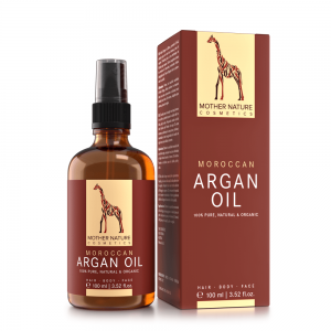 Haaröl ohne Silikone - Moroccan Argan oil von Mother Nature Cosmetics